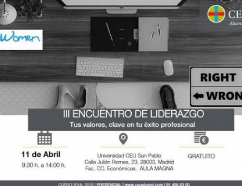 La Fundación Zaballos asistirá al III Encuentro de Liderazgo: Tus valores, clave en tu éxito profesional