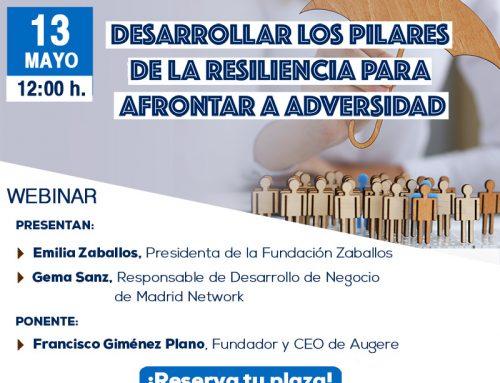 Webinar 13 Mayo 2020: «Desarrollar los valores de la resiliencia para afrontar la adversidad».