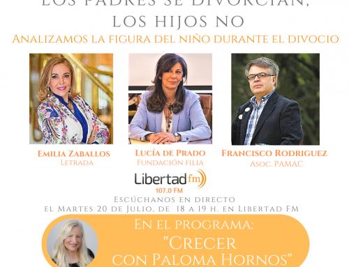 Emilia Zaballos en el programa «Crecer con Paloma Hornos». Libertad FM, 21/07/2020