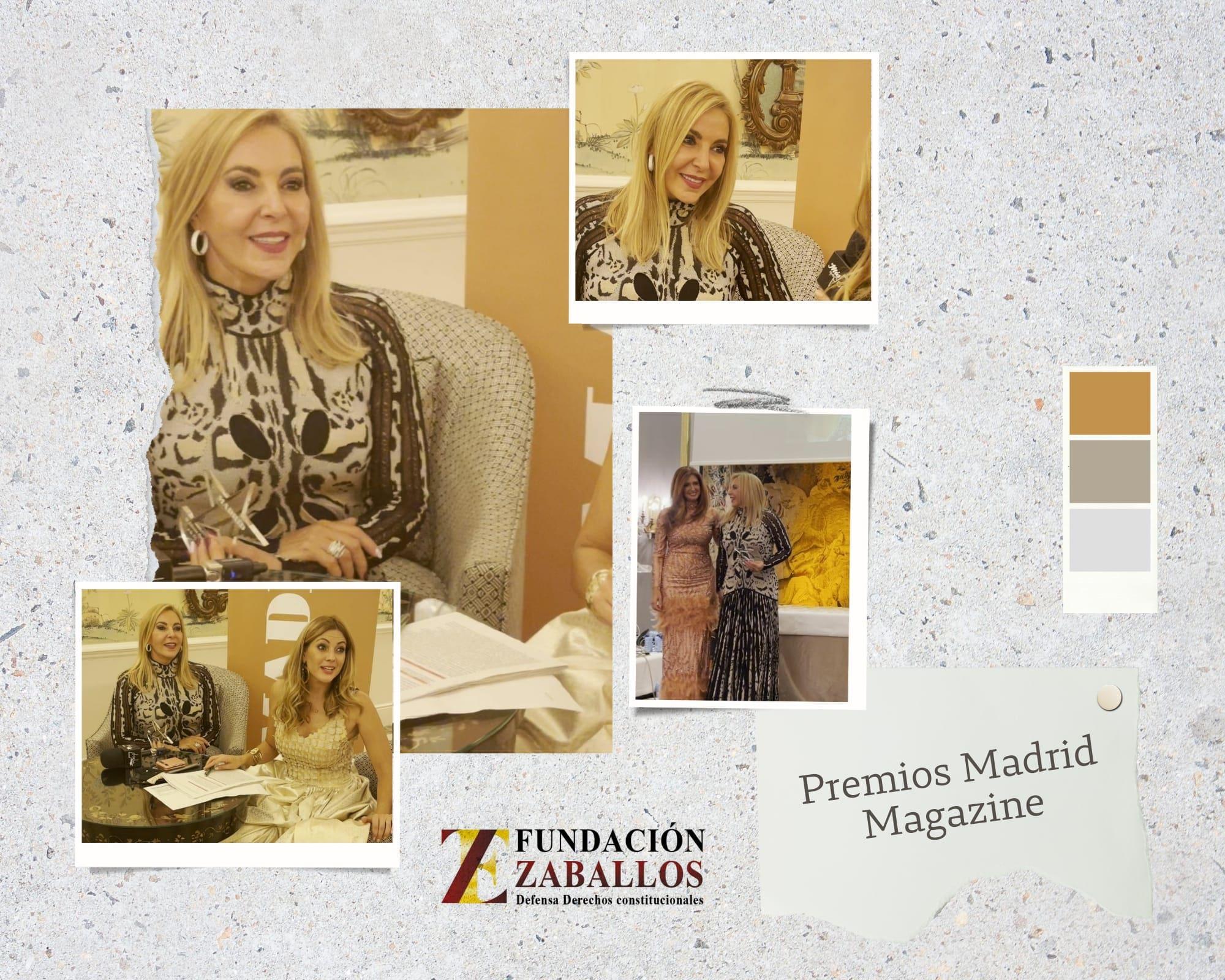 Fundación Zaballos galardonada en los Premios Madrid Magazine