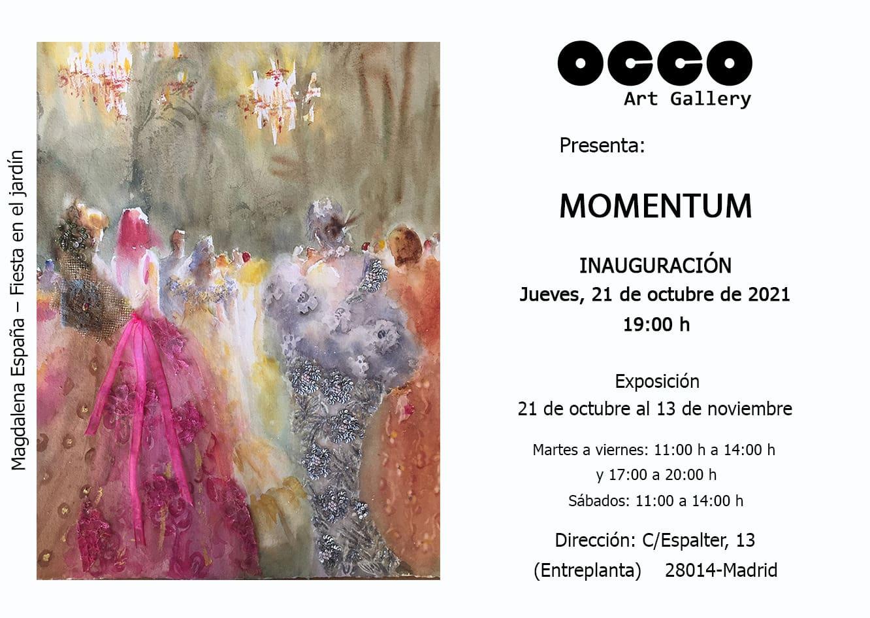 """OCCO Art Gallery inaugura la exposición """"MOMENTUM"""""""
