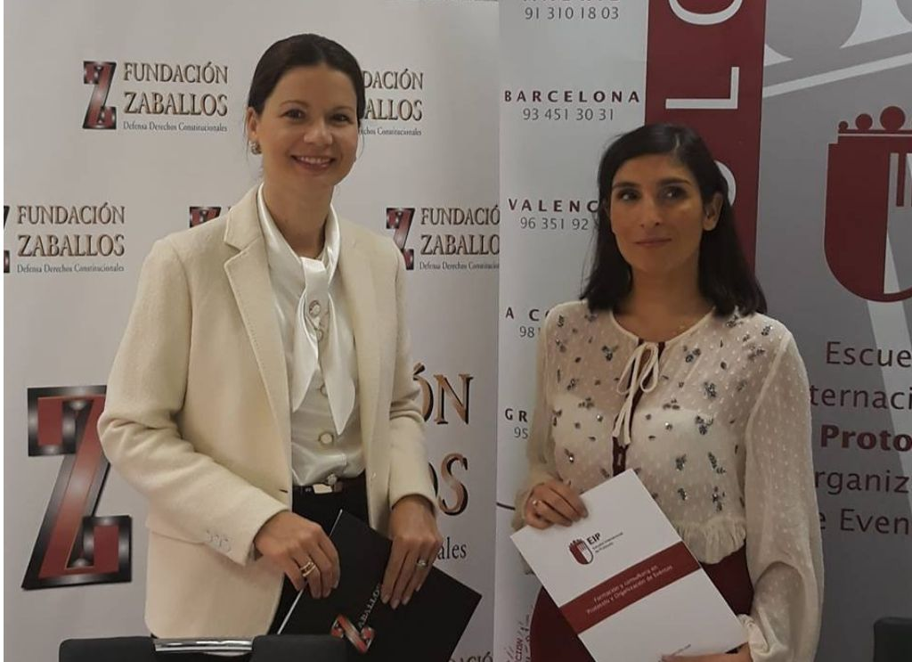 Fundación Zaballos firma acuerdo de colaboración con la Escuela Internacional de Protocolo