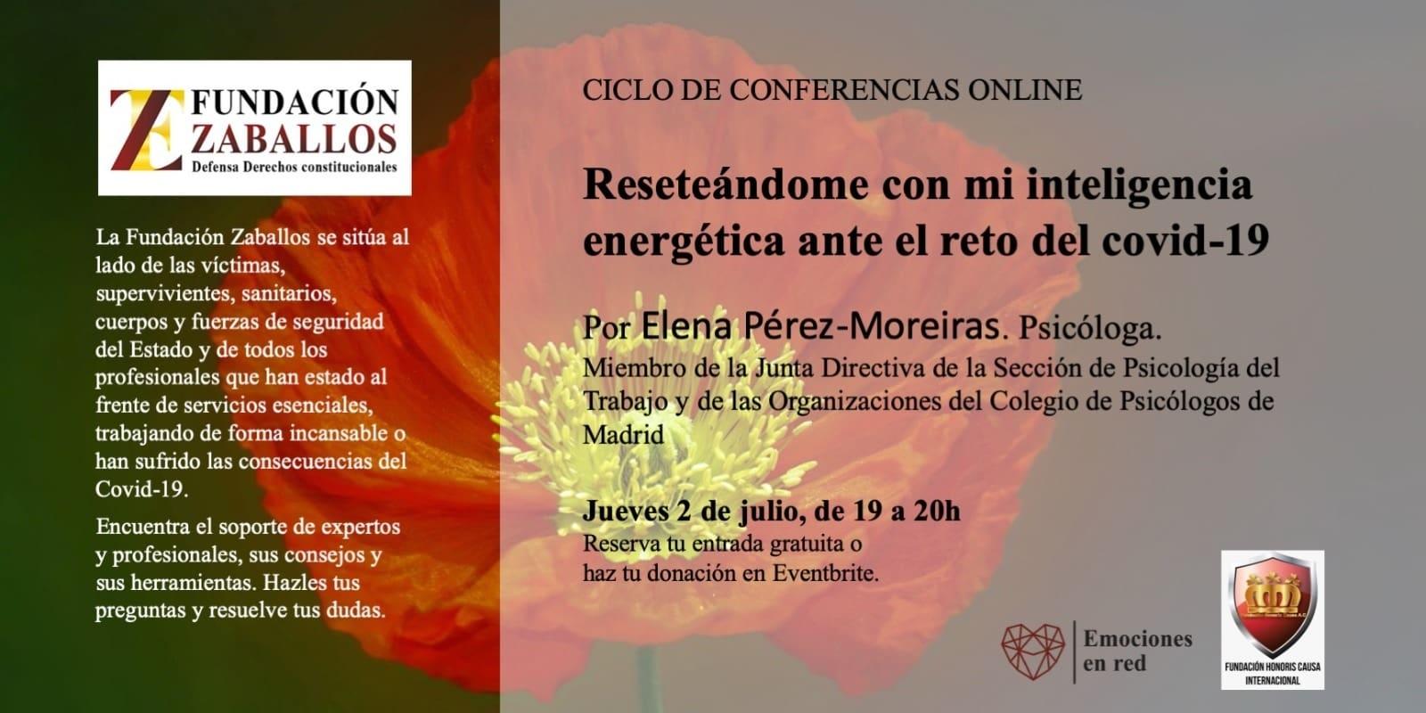 Confencia Online, Emociones en Red: «Reseteándome con mi inteligencia energética ante el reto del covid-19»