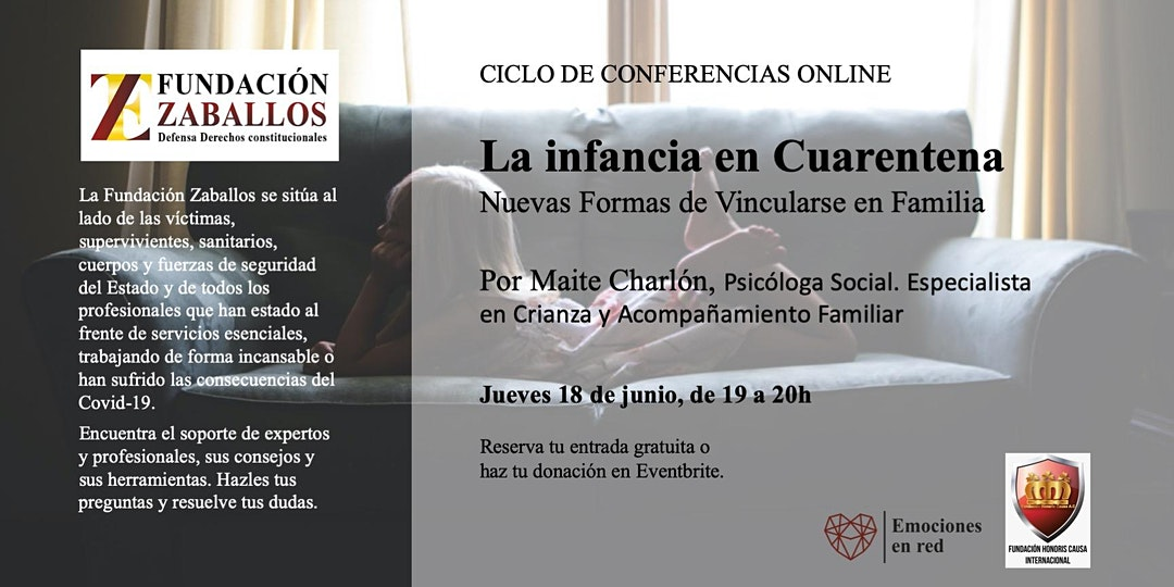 Conferencia online: «La Infancia en Cuarentena; nuevas formas de vincularse en familia».