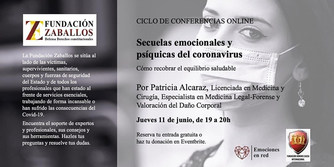 Conferencia online: «Secuelas emocionales y psíquicas del Coronavirus»