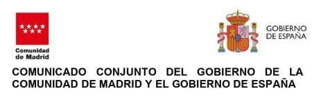Comunicado conjunto del Gobierno de la Comunidad de Madrid y el Gobierno de España. 21 Sept. 2020