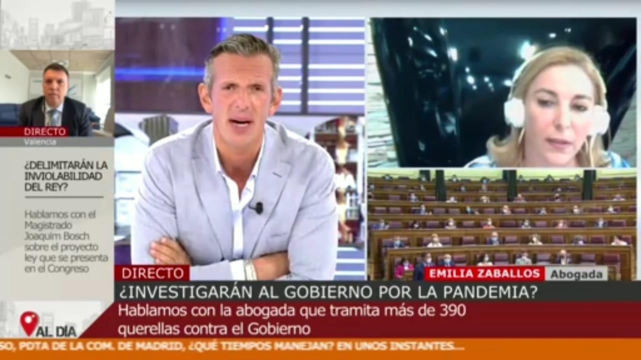 Emilia Zaballos en Cuatro Al día, 15 Sept 2020