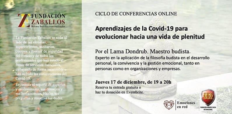 Aprendizajes budistas de la Covid19 para una vida de plenitud